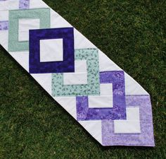 Quilted Table Runner Easter Spring Pretty Posy  11 by MonkeyMuffin, $40.00
