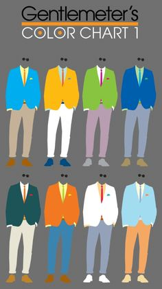 Gentlemeter's Color Chart 1