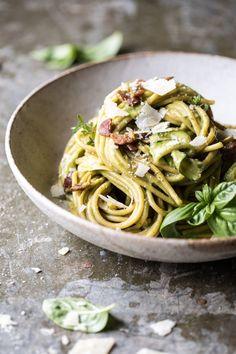 Avocado Zucchini Carbonara Pasta Recipe | halfbakedharvest.com