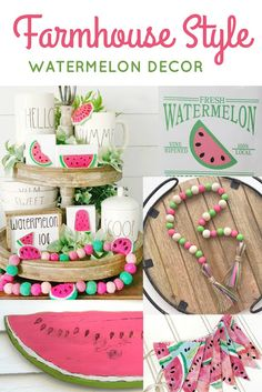 Farmhouse style watermelon decor is such a perfect way to add summer style to your home! Check out these fun items from Etsy. Source by brandiraae Decor farmhouse Wood Bead Garland, Beaded Garland, Watermelon Decor, Green Watermelon, Watermelon Ideas, Watermelon Cake, Summer Diy, Summer Crafts, Tiered Stand