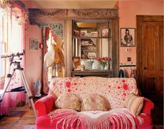 couch, cute, decor, girly, interior, living room - inspiring picture on Favim.com