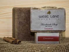 Our Cinnamon soap is spicy and sweet, warm and comforting. Natural Soaps, Palm Oil, Coconut Oil, Cinnamon, Spicy, Essential Oils, Place Card Holders, Warm, Homemade
