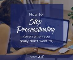I know, I know.I'm fully aware of the irony of writing an internet article about how to stop procrastinating when chances are, you're reading this instead of doing something you're supposed to do. If I really wanted you to stop procrastinating, the most helpful thing I could write would
