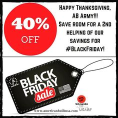 #HappyThanksgiving! We're celebrating our thanks with friends & family today by extending *STEEP* savings of 40% OFF + FREE SHIPPING to you & yours at midnight today! Use PROMO CODE: USABF @ checkout www.americanbuiltusa.com  #blackfridaysale  #americanbuiltusa #stitchedinthestates #veteranowned #americanmade #madeintheusa