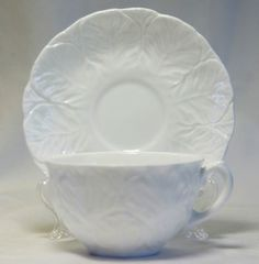 Vintage1960s COALPORT White COUNTRYWARE Bone China CUP & SAUCER(s) Beautiful!  $15.99