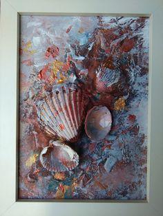 Concha pintura pintura Original pequeña pintura por COLORSofmyeARTh