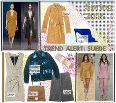 """""""Trend Alert: Suede/Spring 2015"""" by helenevlacho ❤ liked on Polyvore"""