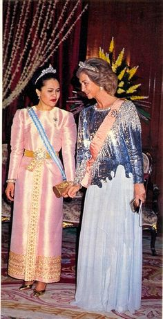 HM The Queen Sirikit of Thailand and Queen Sofia of Spain,