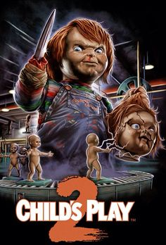 Child's Play Not as good as the first, but better than others in the Chucky Series. Chucky Movies, Chucky Horror Movie, Best Horror Movies, Horror Movie Characters, Classic Horror Movies, Scary Movies, Horror Icons, Horror Movie Posters, Child's Play Movie
