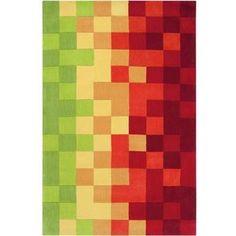 Surya COS-9076 Cosmopolitan Hand Tufted Polyester Rug Green 9 x 13