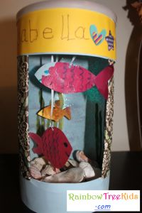 oatmeal container aquarium craft--could use this for science...ocean/lake biome