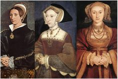 '시무어'  '왕비 제인'  '여왕 클레브'\  소 한스 홀바인 (1540년)    14세기에 극동에서 전혀져 온 벨벳이 대 유행을 한 르네상스 전후 시대의 드레스.  재단과 봉제의 개발이 덜 된 시기라 매듭과 직선적인 실루엣을 가짐.  여러 보석류들과 세공기술로 액세서리가 발달함.