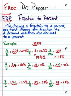 how to make a percent into a fraction