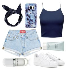 """shorts."" by sonjahancke ❤ liked on Polyvore featuring adidas, Boohoo, Samsung, Giorgio Armani and Marc Jacobs"