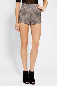 #UrbanOutfitters          #Women #Bottoms           #allover #houette #piping #tweed #slit #content #amazing #legs #angled #carpet #back #jacquard #sil #contrast #fitted #pockets #magic #metallic #zip #care #short #side               MINKPINK Magic Carpet Jacquard Short                Seriously amazing textured tweed short from MINKPINK with allover metallic detailing and contrast piping.? High-waisted with short, angled legs, an exposed zip at the back, and slit side pockets.? Fitted…