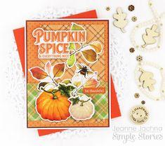 Fall card made with Simple Stories Autumn Splendor collection Tablet 7, Autumn Cards, Craft Cards, Simple Stories, Pumpkin Spice, Handmade Cards, Farmhouse Decor, Card Ideas, Clever