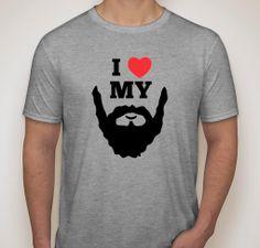 I Love Heart My Beard Mens Novelty Funny by TheTShirtFactory, £12.75