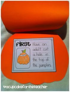 A Cupcake for the Teacher: Perfect Pumpkins {a Writing Craftivity}