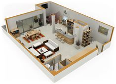 Small House Plans With Loft Bedroom Home Designs - Small residential building plan