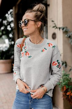 the perfect embroidered sweatshirt for fall | merricksart.com #nordstrom