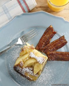 apple puffed pancake  Notes: made many times, usually with Northern Spy apples. I use a lot more apples than the recipe calls for and it comes out so well no matter what. A forgiving and delicious brunch dish, with very little sugar to boot!