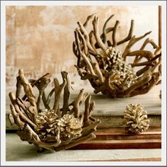 Driftwood Bowls. Mother Oceans inspiration. Hand-crafted from real, natural driftwood pieces.