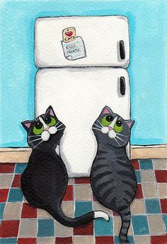 Fridge Magnet.  The cats want this.  Why?  Because it is there - just out of reach, and standing out bright, bold, and tempting.  I love cats.  I have five.