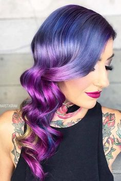 Hot Purple and Blue Hair Looks And#8211; Find Your Perfect One ★ See more: http://lovehairstyles.com/purple-and-blue-hair-looks/