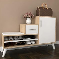 Shoe Storage Cabinet With Doors, Shoe Cabinet Design, Bench With Shoe Storage, Shoe Rack Furniture, Smart Furniture, Furniture Design, Home Yoga Room, Bedroom Decor For Couples, Wooden Pallet Furniture