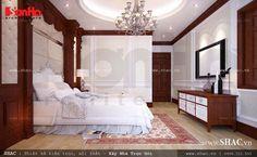 Nội thất phòng khách cổ điển kết hợp màu sắc hài hòa, nhẹ nhàng tạo giấc ngủ êm ái