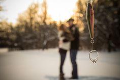Utica Engagement and Wedding Photography, Winter wonderland, Diamond ring, fish hook, love, romantic, sunset