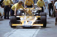 Peter Revson Gulf McLaren M-16C Ontario Motor Speedway . .California 500 Pole Winner