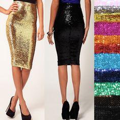 Bonn Oir promo girl uniform option: green skirt w/black or gold top; gold skirt with green top