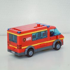 Lego City Fire Truck, Lego Truck, Fire Trucks, Lego Taxi, Lego Fire, Lego Police, Lego City Sets, Lego For Kids, Lego Modular