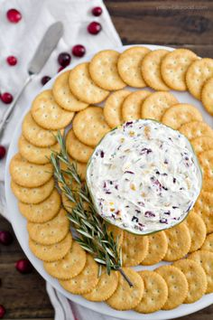 Cranberry Rosemary Cheese Spread  - CountryLiving.com