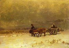 Васильев Ф.А.  «Зима в Крыму» 1871-73 г. Картон, масло. The Perm Art Gallery, Пермь, Россия.