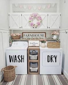 Laundry Room Organization, Laundry Rooms, Laundry Decor, Laundry Storage, Small Laundry, Organization Ideas, Hacks, Decorative Storage, Front Door Decor