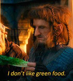 """""""I don't like green food.""""  (gif) My dad and I quote this all the time"""