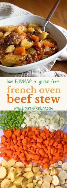 A hearty and nourishing Low FODMAP French Oven Beef Stew! Perfect for winter :) Low FODMAP and gluten free! Grain free!