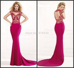 Top Quality Hot Sale Custom Made Fashion High Neck Short Sleeve Floor-Length Evening Dresses For Sale