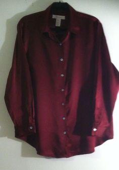 Woman Blouse 100% Silk Size 14W By Jones & Co #JonesCo #Blouse #EveningOccasion
