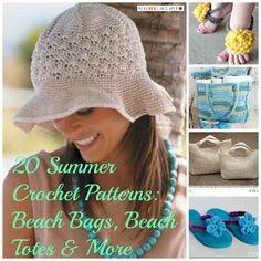summer crochet patterns 350 Summer Crochet Patterns: Beach Bags, Beach Totes  More ✿⊱╮Teresa Restegui http://www.pinterest.com/teretegui/✿⊱╮