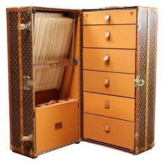 Louis Vuitton Wardrobe Trunk   From a unique collection of antique and modern trunks and luggage at https://www.1stdibs.com/furniture/more-furniture-collectibles/trunks-luggage/