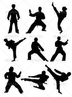 Karate Silhouettes - Sports/Activity Conceptual
