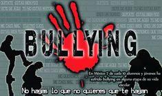 Cartel de concienciación sobre la problemática del bullying