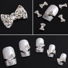 Vip Beauty Shop Wholesale 50 Pcs 3d Bow Tie Alloy Rhinestone Nail Art Glitter DIY Decoration 001 * Find out more about the great product at the image link.