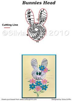 Rabbit Head on Craftsuprint designed by Silvia Griffin - Easter is perfect for this pattern. Why not place him into a flower pot or basket and do just half of the head looking out :>Hope you like making it and get lot's of enjoyment out it. Thank for looking and buying my patterns. - Now available for download!