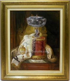 Escuela Holandesa : Still life. Medium: Oil on canvas Measurements (cm): 81x70 Canvas measurements (cm): 61x50 Interior frame: Yes. Decorative still life. Large picture of very good craftsmanship and artistic quality. An excellent work at an incredible price.  $270.93