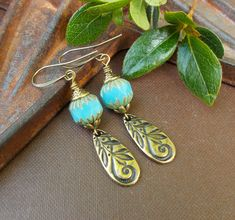 Mustard Yellow Earrings Boho Earrings Handmade Copper Anniversary Gift for Wife Birthday Gift for Daughter in Law Bohemian Jewelry Clip On
