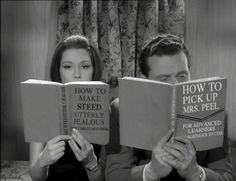 The Avengers (1960's TV series) read 'How To Make Steed Utterly Jealous' and 'How to Pick Up Mrs. Peel'